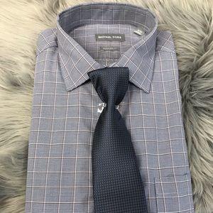 Michael Kors 16-16.5 34/35 Large Dress Shirt